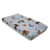 Lambs & Ivy Bow Wow Buddies Changing Pad Cover