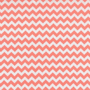 Trend Lab Coral Pink and White Chevron Print Changing Pad Cover