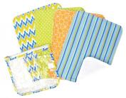 Trend Lab Gift Set Levi Zipper Pouch And 4 Burp Cloths