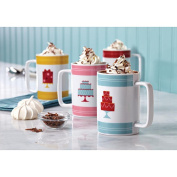 Cake Boss Serveware 4 Piece Porcelain Mug Set - Mini Cakes Pattern