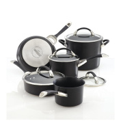 Circulon Symmetry Hard Anodized Nonstick 9-Piece Cookware with 2-Piece Bakeware Set - Black