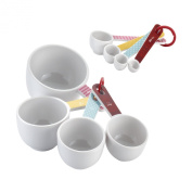 Cake Boss Countertop Accessories 8 Piece Melamine Measuring Cups & Spoons Set