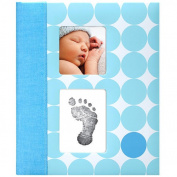 Pearhead Babybook-Blue Dots