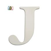 Koala Baby Uppercase Wall Letter J - White