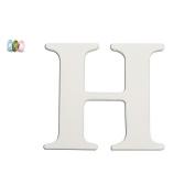 Koala Baby Uppercase Wall Letter H - White