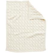 Koala Baby Chunky Cable Knit Blanket - Cream