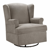 Dorel Home Furnishings Colby Dark Taupe Swivel Glider Chair