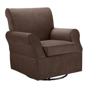 Dorel Kaylee Swivel Glider and Ottoman-Chocolate