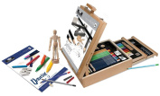 Royal All Media 124 Piece Sketching & Drawing Easel Artist Set
