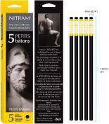 Nitram Charcoal X-Soft 6Mm Round Sticks 5/Pk