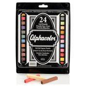 Quartet Alphacolor Soft Pastels, Multi-Cultural Portrait Pastels for Skin Tones, 24 Pastels per Set