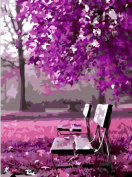 Diy oil painting, paint by number kit- Wait for romance 16*50cm .