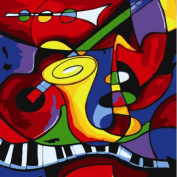 Diy oil painting, paint by number kit- worldwide famous oil painting Abstract Music by Picasso 16*50cm .