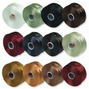 S-Lon Beading Thread Mixture 12 Colours Size D - Neutrals Mix