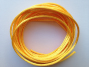 Yellow Gold Satin Rattail Nylon Cord 2mm 5yds Bundle DIY