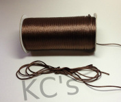50 Yards - 2mm Brown Satin Rattail Cord Chinese/china Knot Rat Tail Jewellery Braid 100% Polyester