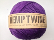 Purple Hemp Twine Cord 1mm 143yd 130m 430ft DIY