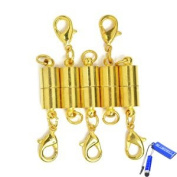 Bluecell Pack of 5 Pcs Gold Colour Tone Magnetic Lobster Clasp for Jewellery Necklace Bracelet