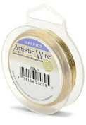 Artistic Wire 20 Gauge Wire, Gold Colour, 7.6m