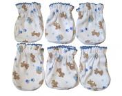 6 Pairs Cotton Newborn Baby/infant Boy No Scratch Mittens Gloves - Cute Little Dog