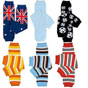 6 Pack of juDanzy boys leg warmers of Stripes, lizards, clown patch, surf boards, soccer