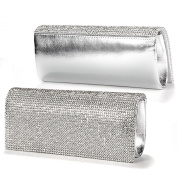 Shimmering Diamante Crystal Cover Evening Bag Clutch Purse Party Wedding Prom
