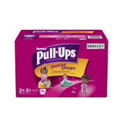 Huggies Pull-Ups Training Pants with Learning Designs for Girls, 2T-3T, 74 Count