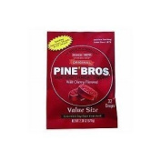 Pine Bros. Softish Throat Drops Value Size Wild Cherry -- 32 Drops, Pack of 3