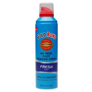 Gold Bond No Mess Foot Powder Spray, Fresh, 210ml
