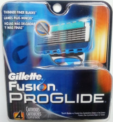 Gillette Fusion Proglide Blades 4 pack refill cartridges, sealed, unpacked, 100% genuine, made in USA, shipped from Melbourne