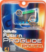Gillette Fusion Proglide Power Blades 4 pack refill cartridges, sealed, unpacked, 100% genuine, made in USA, shipped from Melbourne