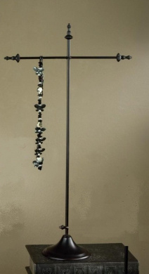 60cm h Necklace Stand - Antique Bronze Finish