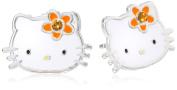 Hello Kitty Girls' Birthstone Crystal Stud Earrings