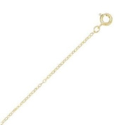 Childrens 14K Yellow Gold Filled Cable Chain Teens Adjustable Necklace - Made in the USA