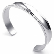 KONOV Jewellery Mens Womens Stainless Steel Bracelet, Cuff Bang, Silver
