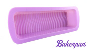 Bakerpan Silicone Loaf Pan, Loaf Mould, Bread Pan, Cake Baking Mould 33cm Long, Lavender Colour