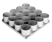 Alan Silverwood 16 Piece 7.6cm Round Cake Pan Set 12334