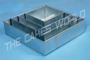 Square Multilayer Wedding Birthday Cake Baking Pan Set of 4 Cake Tins