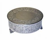 GiftBay Creations 743-16R.AMA Wedding Round Cake Stand, 41cm , Silver