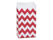 All About Details Red Chevron Favour/treat Bags, Set of 24