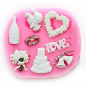 Longzang mini LOVE Christmas Fondant Mould Silicone Sugar mould Craft Moulds DIY gumpaste flowers Cake Decorating