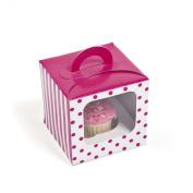 Hot Pink Polka Dot Cupcake Boxes