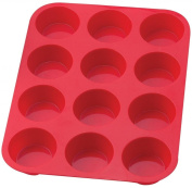 Sorbus® 12 Cup Silicone Muffin & Cupcake Baking Pans, Non-Stick, Easy To Clean, Oven / Microwave / Dishwasher / Freezer safe, Heat Resistant Up To 450°F