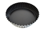 "Paderno World Cuisine 24cm ""Deep"" Fluted Non-Stick Tart Mould with Removable Bottom"