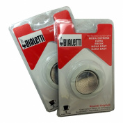 Bialetti® (2-Packs) of #06960, total of SIX replacement gaskets and TWO Bialetti® replacement filter plates