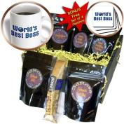 cgb_41823_1 Houk Digital Design - Best Boss - Blue text Worlds Best Boss with globe on white background - Coffee Gift Baskets - Coffee Gift Basket