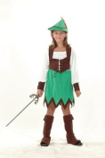 Bristol Novelty Green/Brown Robin Hood Girl Deluxe Costume Girls Medium 7-9 Yrs