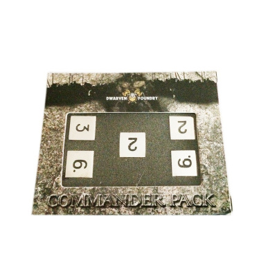 Set of 5 D6 Metal Dice Dwarven Foundry Commander Pack Lycanthrope Silver Perfect for Warhammer Shadowrun Warmachine