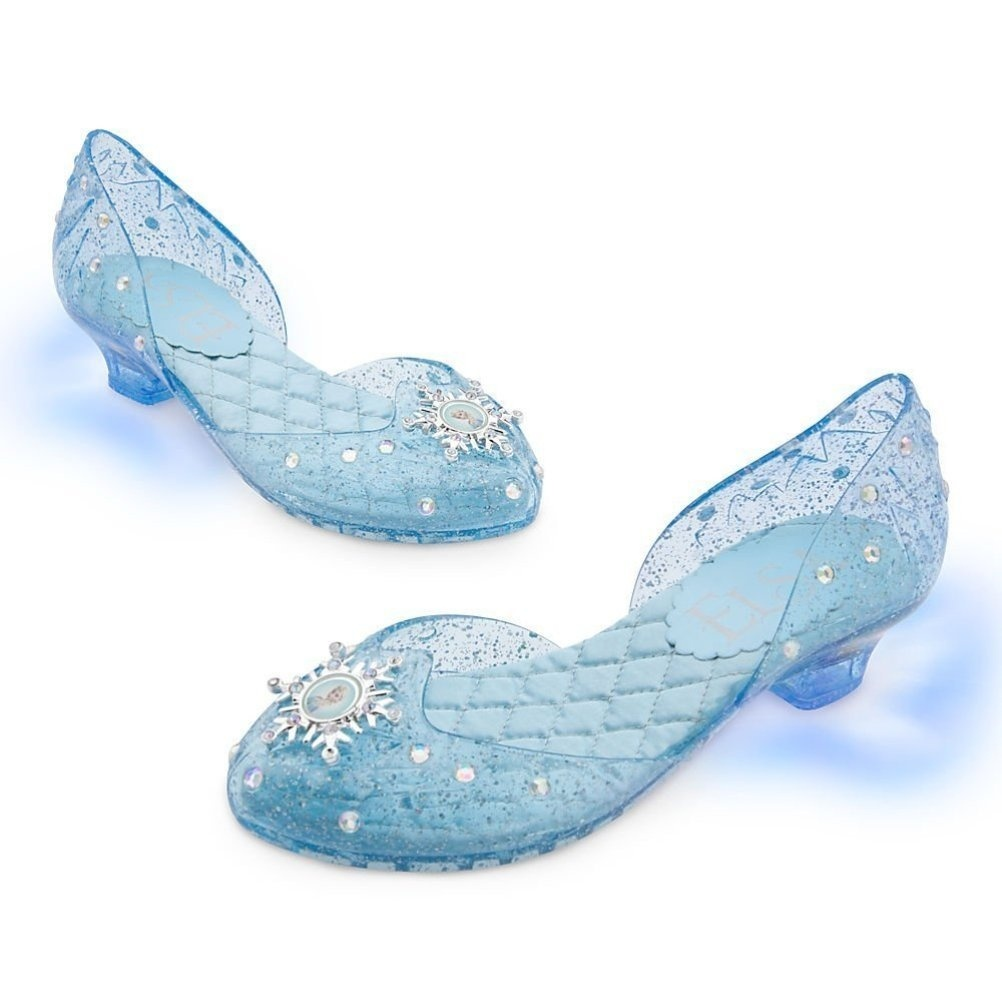 Disney Store Frozen Princess Elsa Light-Up Shoes Costume Slippers ... 73eda635fdef