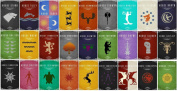 Game of thrones house flags Playmat
